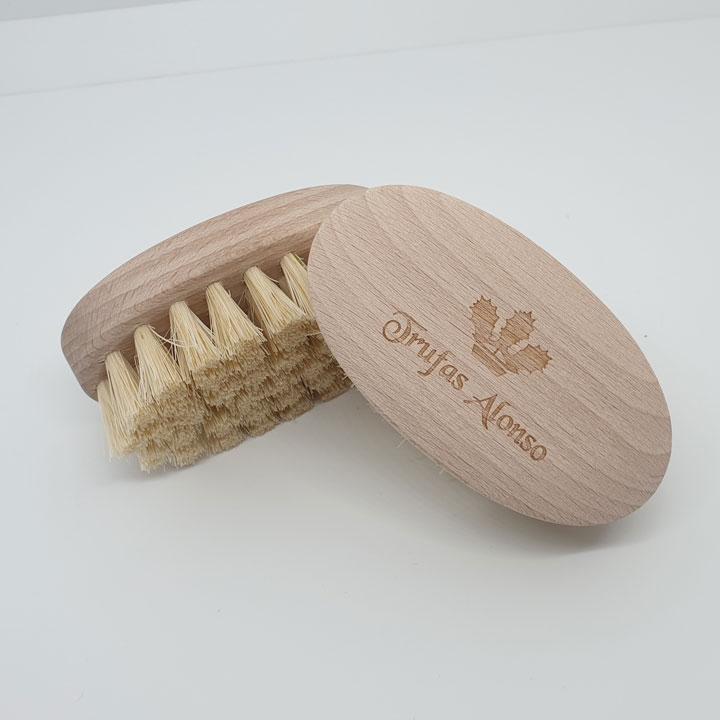 Cepillo de limpieza para trufas de madera